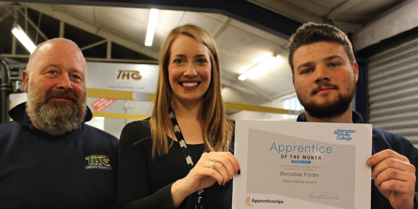 Apprentice of the Month: January 2019