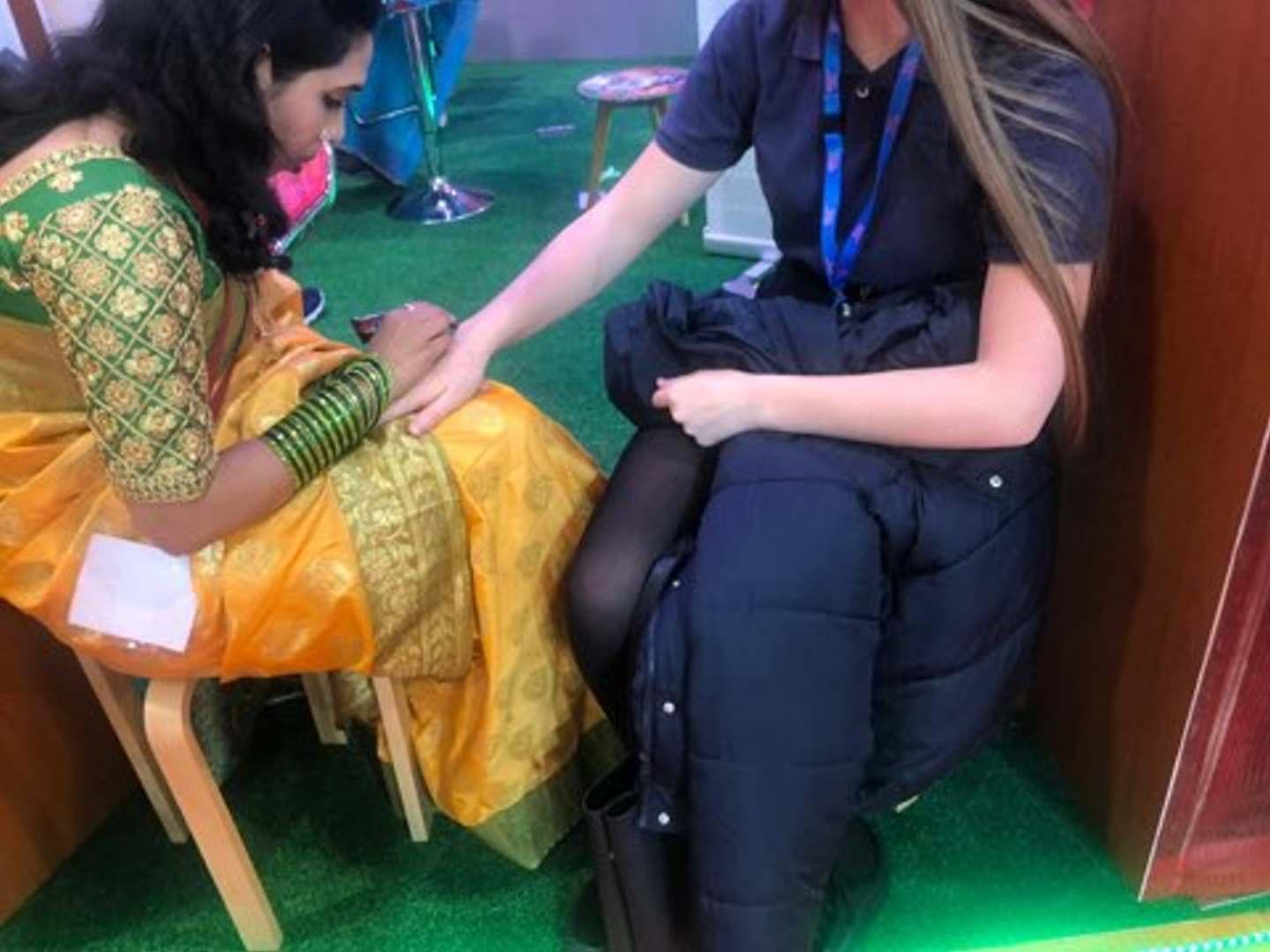 Student gets henna at WTM